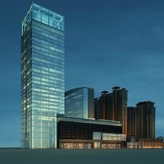 Architecture 699 Skyscraper Building 3D Model