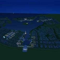 Architecture 703 City block Building 3D Model