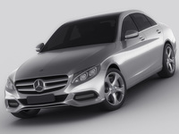 Mercedes C Class 2014 avantgarde 3D Model