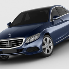 Mercedes C Class 2014 exclusive 3D Model