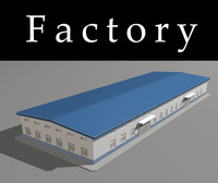 Architecture 710 Factory Building 3D Model