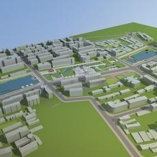 Architecture 713 City Block Building 3D Model