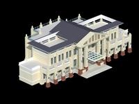 Architecture 716 Hotel Building 3D Model