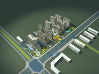 Architecture 717 High Rise Residential Building 3D Model
