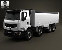 Renault Premium Lander Tipper Truck 4-axis 2012 3D Model