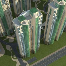 Architecture 722 High Rise Residential Building 3D Model