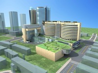 Architecture 723 Mall Building 3D Model
