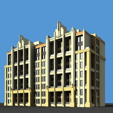 Architecture 724 multilayer Residential Building 3D Model