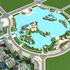 Architecture 727 City Block Building 3D Model