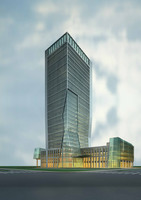 Architecture 728 office Building 3D Model