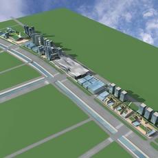 Architecture 731 City Block Building 3D Model