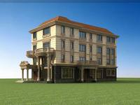 Architecture 732 multilayer Residential Building 3D Model