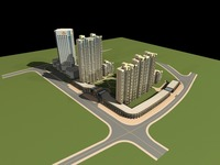 Architecture 733 High Rise Residential Building 3D Model