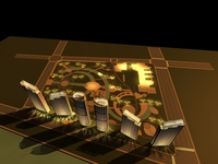 Architecture 734 High Rise Residential Building 3D Model