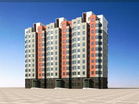 Architecture 739 multilayer Residential Building 3D Model