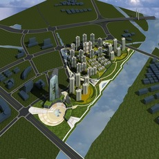 Architecture 740 City Block Building 3D Model