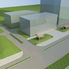 Architecture 741 Street 3D Model