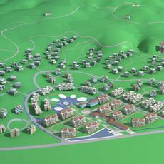 Architecture 744 Villa Building 3D Model