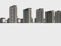 Architecture 754 High Rise Residential Building 3D Model