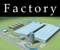 Architecture 763 Factory Building 3D Model