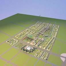 Architecture 767 City Block Building 3D Model