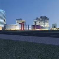 Architecture 773 Mall Building 3D Model
