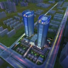 Architecture 774 Skyscraper office Building 3D Model