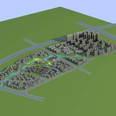 Architecture 776 City block Building 3D Model