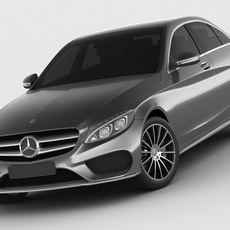 Mercedes C Class 2014 AMG line 3D Model