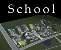 Architecture 779 School Building 3D Model