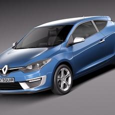 Renault Megane 3door GT 2014 3D Model