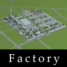Architecture 780 Factory Building 3D Model
