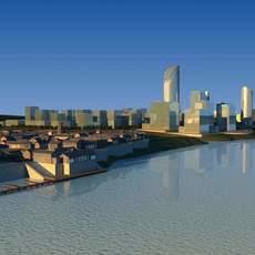 Architecture 782 City block Building 3D Model