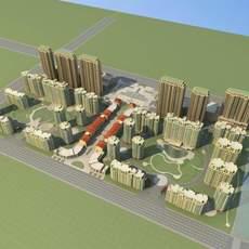 Architecture 784 City block Building 3D Model
