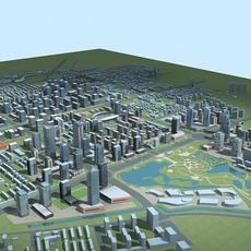 Architecture 785 City block Building 3D Model
