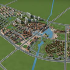Architecture 786 City block Building 3D Model