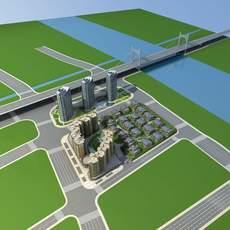 Architecture 787 City block Building 3D Model