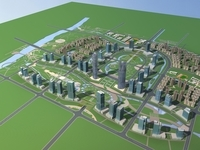 Architecture 791 City block Building 3D Model