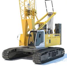 Liebherr Crawler Crane LR1100 3D Model