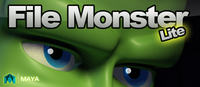 Free File Monster Lite (Import & Icon Tool) for Maya 1.5.6 (maya script)