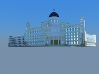 Architecture 799 Hotel Building 3D Model