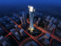 Cityscape Skyscraper 028 3D Model