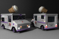 IceCream Truck 3D Model