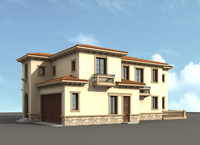 Architecture 806 VIlla Building 3D Model