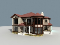 Architecture 807 VIlla Building 3D Model
