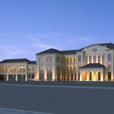 Architecture 811 Hotel Building 3D Model