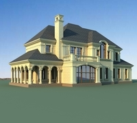 Architecture 815 VIlla Building 3D Model