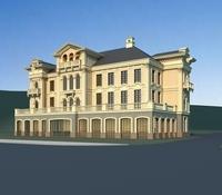 Architecture 814 VIlla Building 3D Model