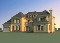 Architecture 817 VIlla Building 3D Model