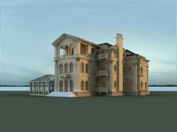 Architecture 819 VIlla Building 3D Model